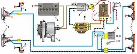 электрическая схема зарядной