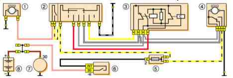 электрическая схема стеклоочистителя